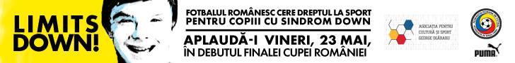 Finala Cupei Romaniei la Fotbal se joaca pentru copiii cu Down!