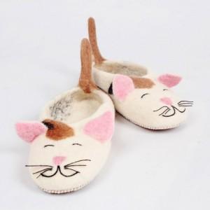 papuci-lana-model-pisica