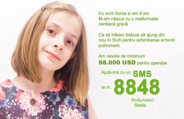 Avem numar de donatii pentru Sonia